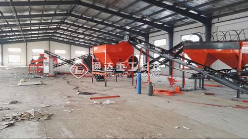 哈尔滨方正客户5万吨有机肥设备安装现场